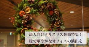 法人向けクリスマス装飾特集!緑で華やかなオフィスの演出を